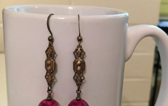 Brass Chandelier Earrings